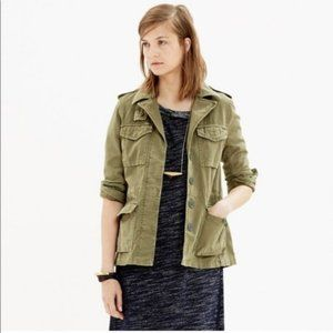 Madewell Green Military Jacket Button Front